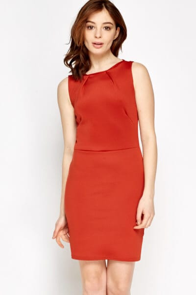 Bodycon Basic Dress XS / Viskose / Rot