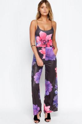 Floral Wide Leg Jumpsuit